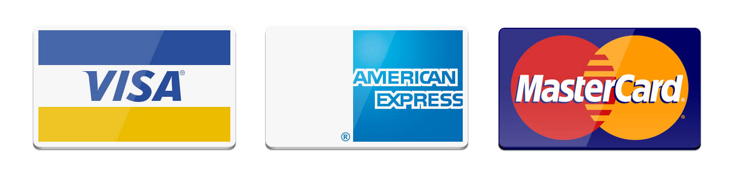 We gladly ACCEPT Vias, American Express & Mastercard